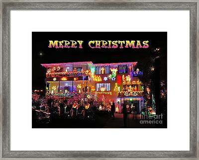 Merry Christmas Framed Print by Kaye Menner