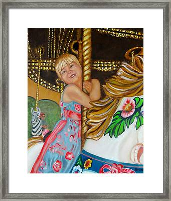 Framed Print featuring the painting Merry-go-round by Sharon Schultz