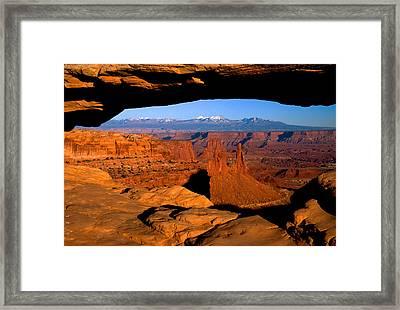 Mesa Arch Framed Print by Eric Foltz