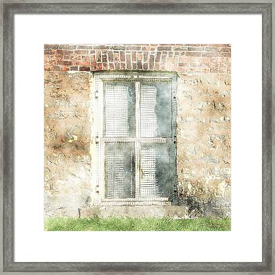 Mesh Window Framed Print by The Art of Marsha Charlebois