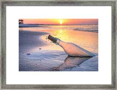 Message In A Bottle Framed Print by JC Findley