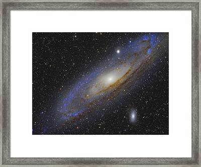 Messier 31, The Andromeda Galaxy Framed Print by Roberto Colombari