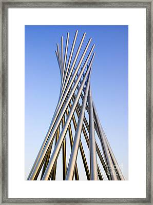 Metal Sculpture At Fermilab Framed Print by Mark Williamson