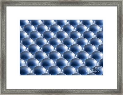 Metal Spheres, Abstract Artwork Framed Print