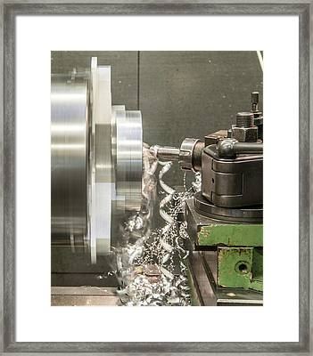 Metal Tooling Shop Floor Framed Print by Photostock-israel