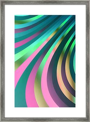 Metallic Swirls 2 Framed Print