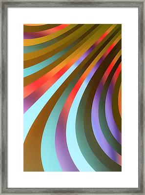 Metallic Swirls 3 Framed Print