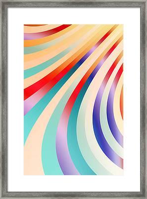 Metallic Swirls 5 Framed Print