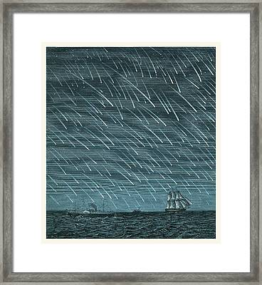 Meteor Shower Framed Print by Detlev Van Ravenswaay