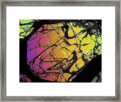 Meteorite Brenham Framed Print by Alfred Pasieka