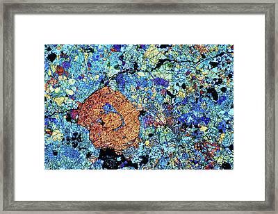 Meteorite Dho 020 Framed Print by Alfred Pasieka