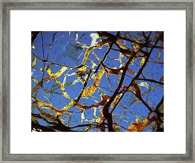 Meteorite Seymchan Framed Print by Alfred Pasieka