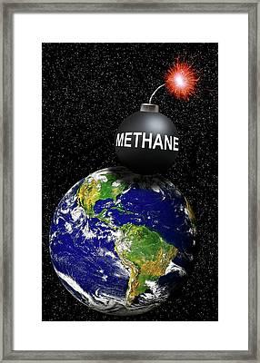 Methane Bomb Framed Print by Victor De Schwanberg