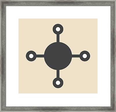 Methane Natural Gas Molecule Framed Print by Molekuul