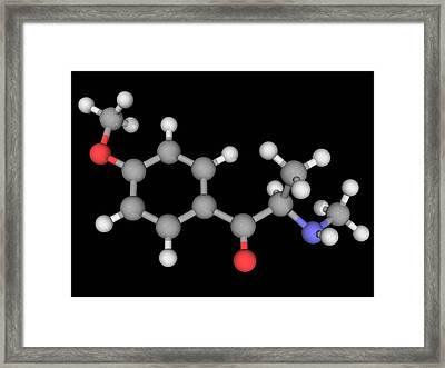 Methedrone Drug Molecule Framed Print by Laguna Design/science Photo Library