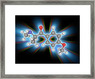 Methedrone (methoxyphedrine) Drug Molecule Framed Print by Laguna Design/science Photo Library