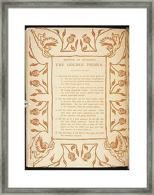 Method Of Teaching. The Golden Primer Framed Print by British Library