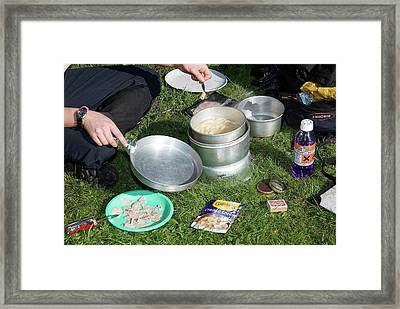 Methylated Spirits Camping Stove Framed Print by Trevor Clifford Photography