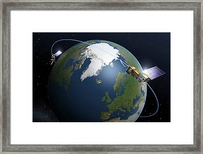 Metop-second Generation Satellites Framed Print by Esa-p. Carril