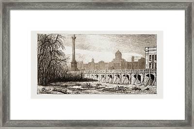 Metropolitan Improvements, London, Uk Framed Print