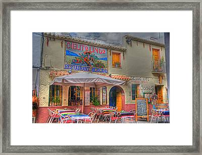 Mexican Restaurant Framed Print