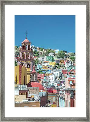 Mexico, Rooftop View Of Guanajuato Framed Print by Rob Tilley