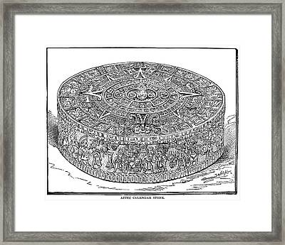 Mexico Stone Of The Sun Framed Print by Granger