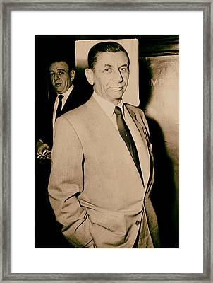 Meyer Lansky - The Mob's Accountant 1957 Framed Print