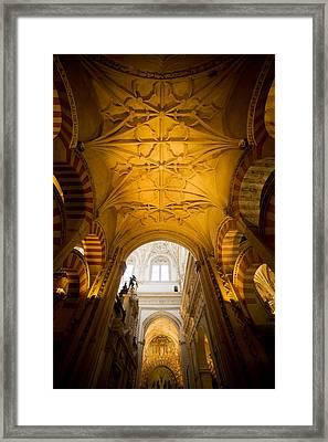 Mezquita Cathedral Interior In Cordoba Framed Print by Artur Bogacki