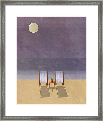 Mgl - Bathers And Coast 04 Framed Print by Joost Hogervorst