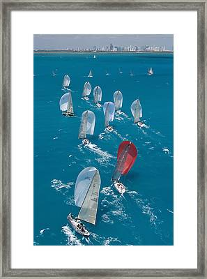 Miami Beach Regatta Framed Print by Steven Lapkin