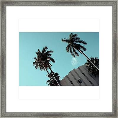{miami Beach's Art Deco}  In 1979 Framed Print