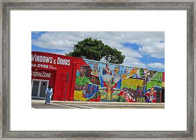 Miami Street Art Framed Print