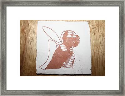 Micah - Tile Framed Print by Gloria Ssali