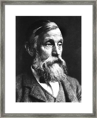 Michael Foster Framed Print by National Library Of Medicine