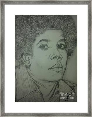 Michael Jackson Art Framed Print by Collin A Clarke