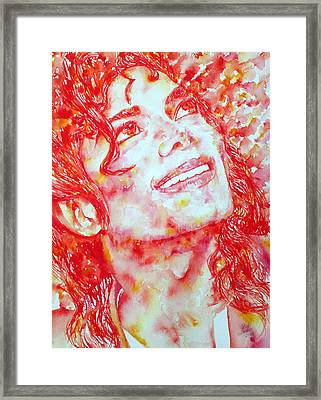 Michael Jackson - Watercolor Portrait.2 Framed Print by Fabrizio Cassetta