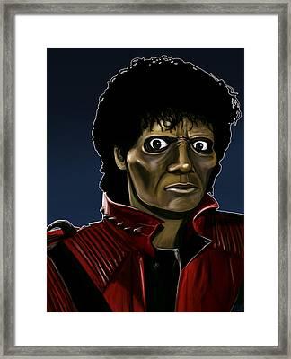 Michael Jackson Thriller Framed Print