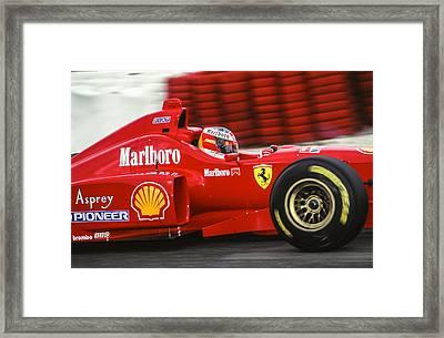 Michael Schumacher  Framed Print by Jose Bispo