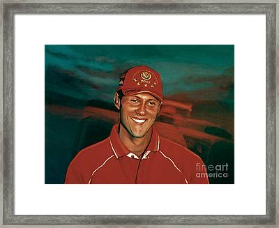Michael Schumacher Framed Print by Paul Meijering