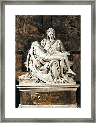 Michelangelo 1475-1564. Pieta Framed Print by Everett