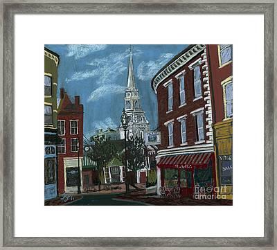 Michelle's On Market Square Framed Print