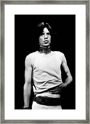 Mick Jagger 1968 Framed Print by Chris Walter