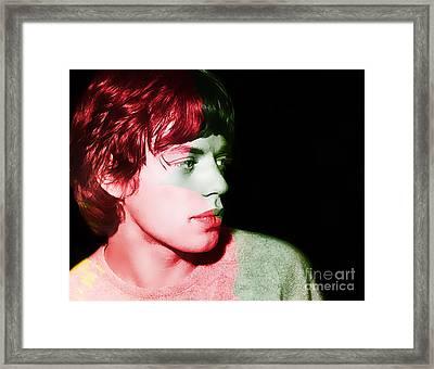 Mick Jagger Framed Print by Marvin Blaine