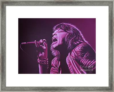 Mick Jagger Framed Print by Paul Meijering