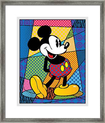 Mickey Spotlight Framed Print