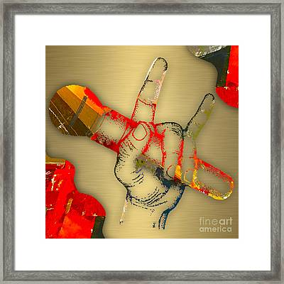 Microphone Collection Framed Print by Marvin Blaine