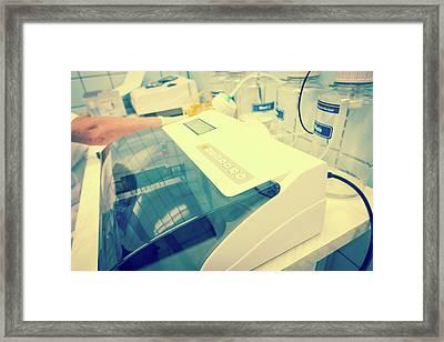 Microplate Reader Framed Print by Wladimir Bulgar