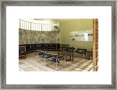 Midcentury Modern Interior Framed Print by Lynn Palmer