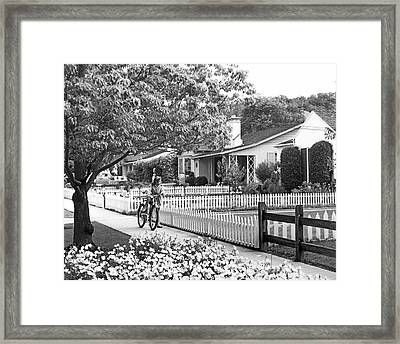 Middle Class Homes Framed Print by Underwood Archives